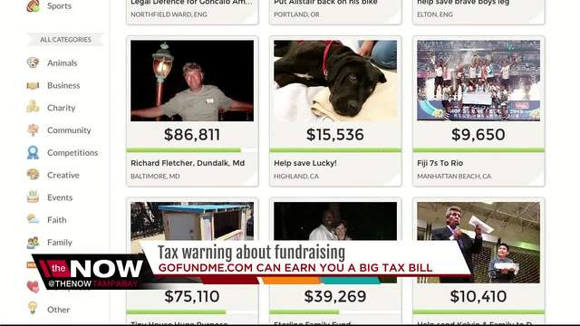 Tax Warning- GoFundMe donations can cost you a big tax bill