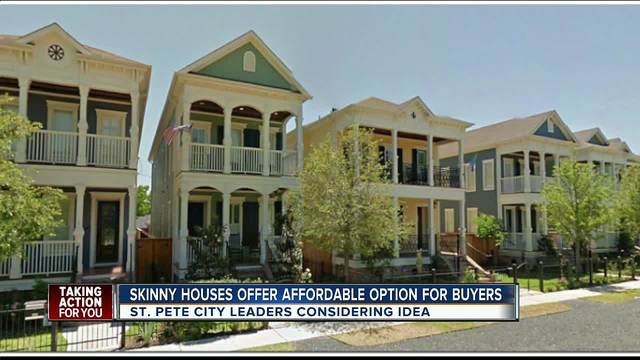 Leaders consider bringing -skinny-- more affordable homes to St- Pete