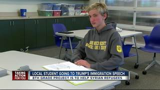 Eighth grader working to help Syrian refugees