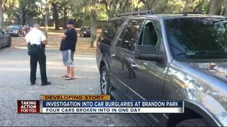 Several cars broken into at Brandon park