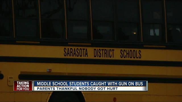 Police charge students after gun found on Sarasota school bus