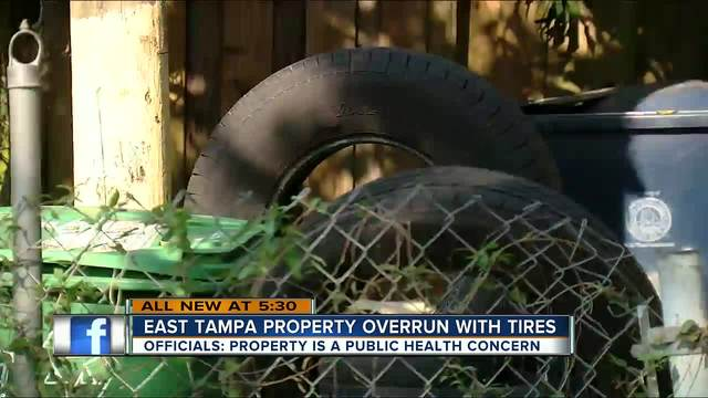 Tampa man arrested for having more than 1-000 tires in and around his home