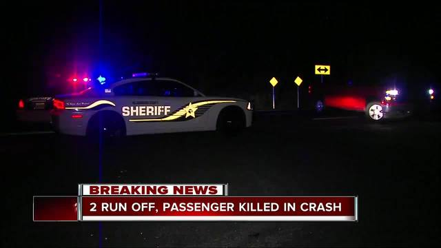 2 run from scene of crash- passenger left to die in crashed SUV