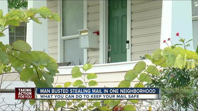 Man busted stealing mail in Tampa neighborhood