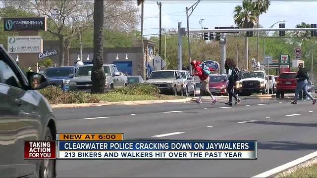 Clearwater police cracking down on jaywalkers