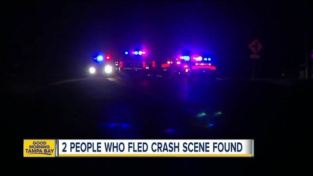 FHP- Driver crashes into trees in Wimauma- runs from accident scene…