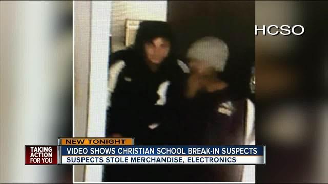 Video shows Christian school break-in suspects