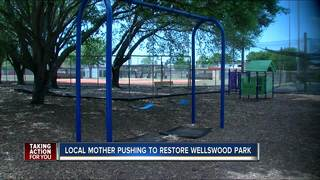 Mother committed to restore childhood park