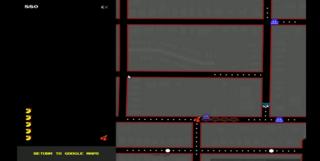 Google Maps tranforms into Ms. Pacman