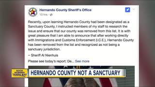 Sheriff Nienhuis-Hernando not a sanctuary county