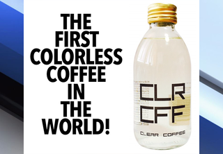 Clear coffee is here! It won't stain your teeth