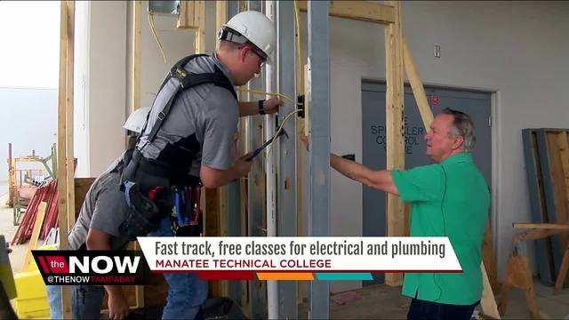 Bay Area College Offers New Express Classes To Lead Into Career In Plumbing Or Electrical