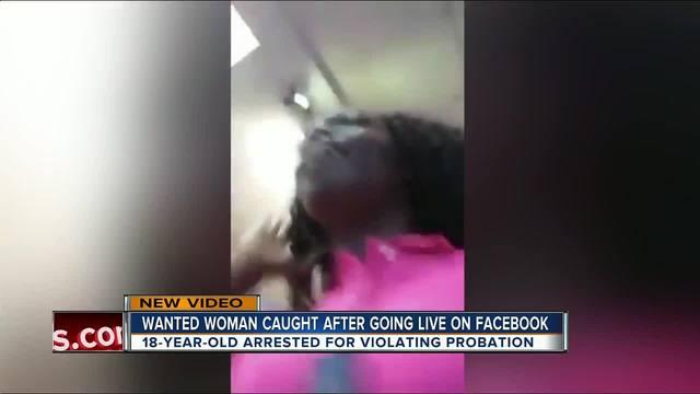 Woman Arrested After Posting Facebook Live Video At