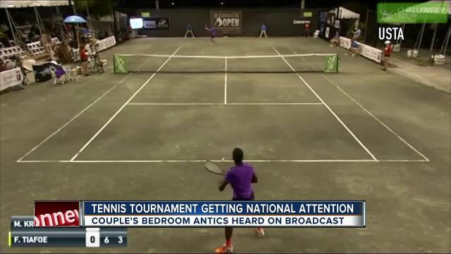 Sarasota tennis match interrupted by loud sex noises