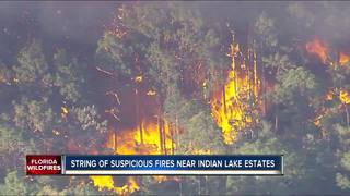 Fire crews looking for arsonist in Polk
