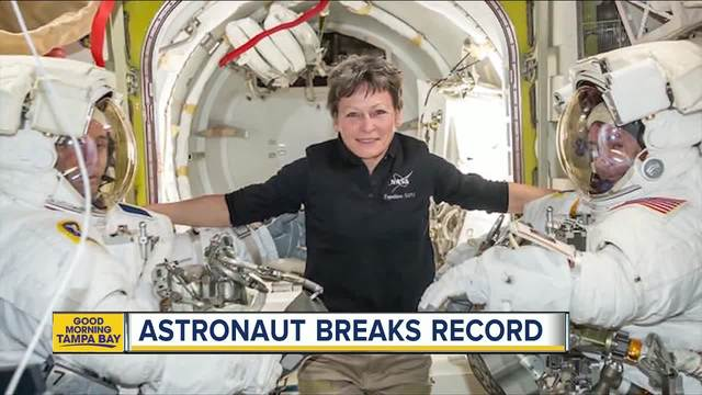 Trump calls US astronaut who broke record for time in space