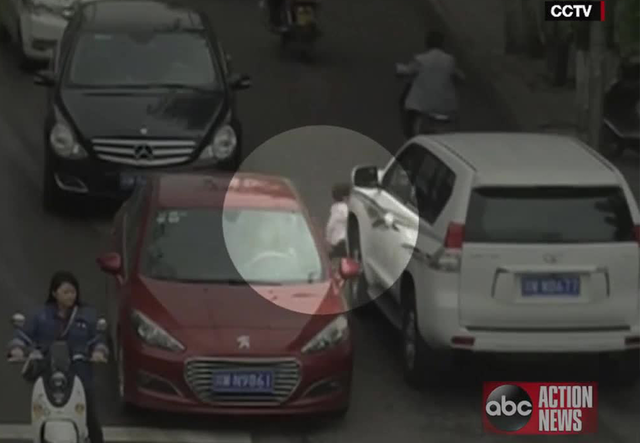 Chinese girl survives after being run over twice