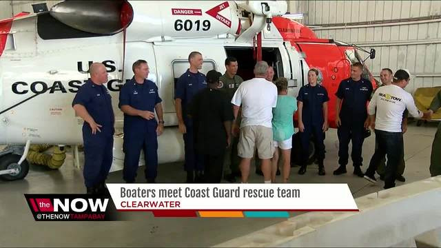 Boaters meet Coast Guard rescue team