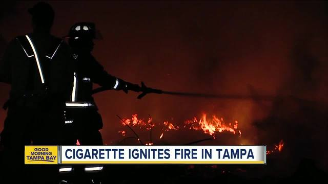 Cigarette ignites fire in Tampa- burn ban in place in Hillsborough County