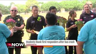 Students thank first responders after bus crash