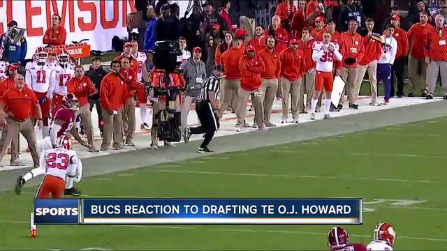 Tampa Bay Buccaneers select Alabama tight end O-J- Howard in the first…