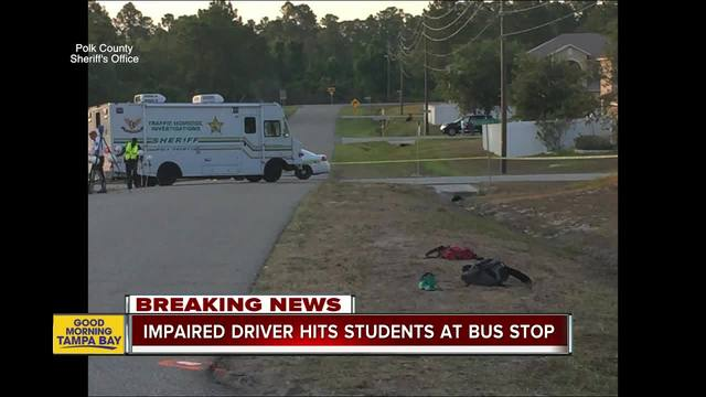 Deputies- Impaired driver hits 3 students at Polk County bus stop- 2…
