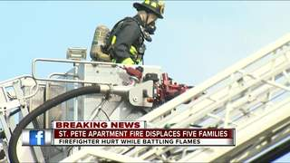 Apartment fire displaced five families