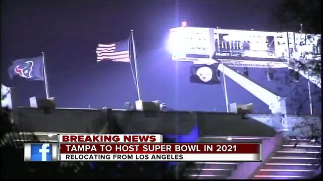 Tampa to host Super Bowl LV in 2021