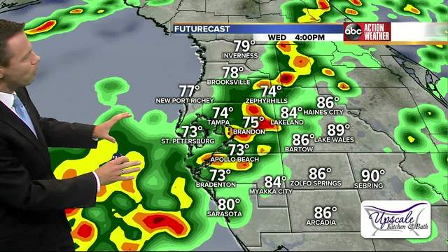 Severe weather headed for Tampa Bay area Wednesday afternoon