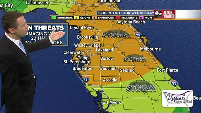 Severe weather headed for Tampa Bay on Wednesday