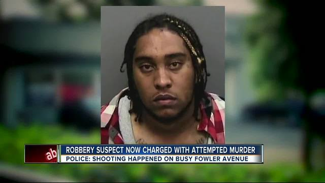 Robbery suspect now charged with attempted murder
