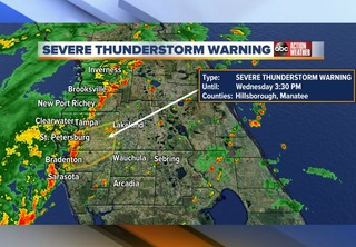 ALERT | Severe weather impacts Tampa Bay area