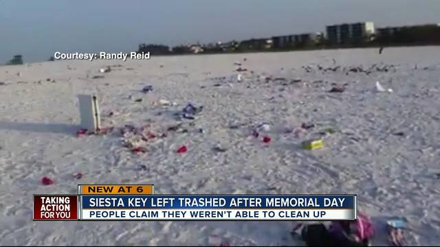 A Video Of Siesta Key Beach Trashed After Memorial Day Is Now Going Viral With More Than 3 100 Shares