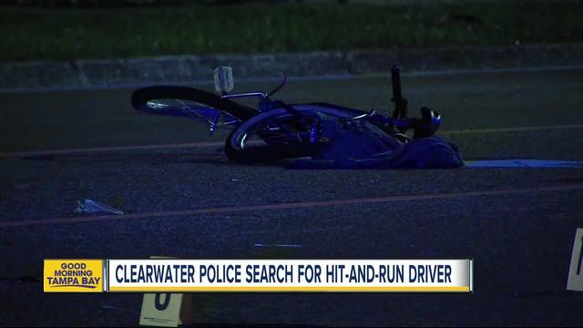 Suspect sought in Clearwater hit-and-run that critically injured bicyclist