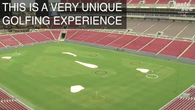 Raymond James Stadium is being turned into a golf course this weekend
