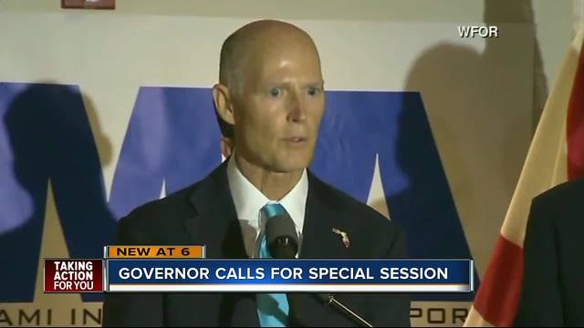 Gov. Scott, lawmakers to announce special session