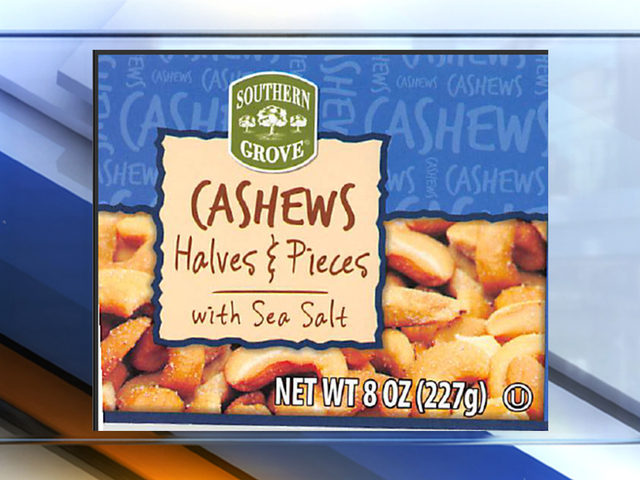 Cashews sold at Va. grocery stores recalled over glass in canisters