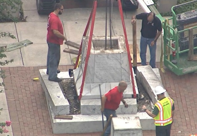 City of Orlando to begin moving Confederate statue at Lake Eola