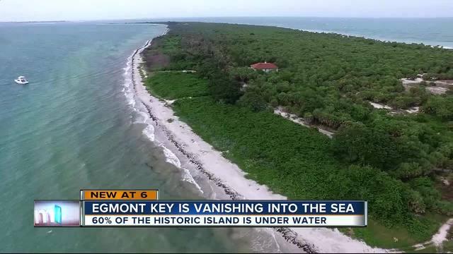 Egmont Key is vanishing into the sea