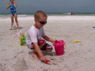 Playing in beach sand can make your kids sick