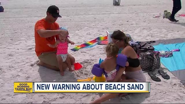 Sandcastles can make you sick- beware playing on beaches filled with…