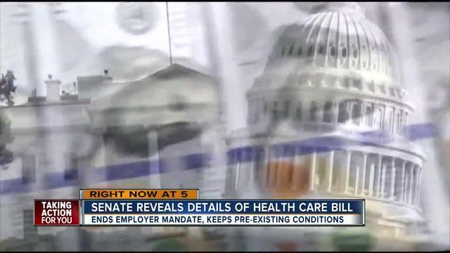 Senate reveals details of Health Care Bill
