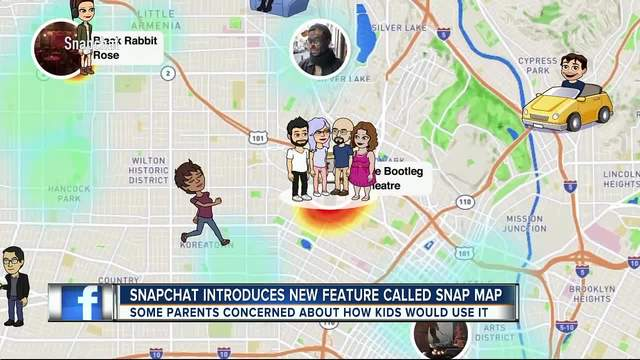 Snapchat introduces new feature called -Snap Map-