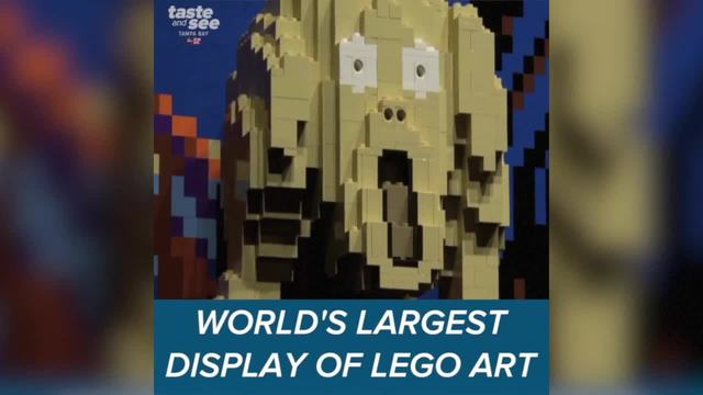 World's largest LEGO art display opens Friday in Downtown Tampa ...