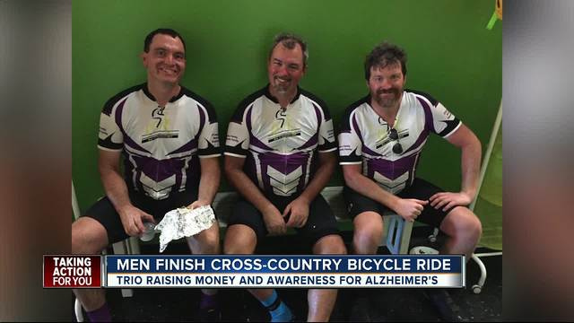 Tampa Bay cyclists finish cross-country ride to raise money- awareness…