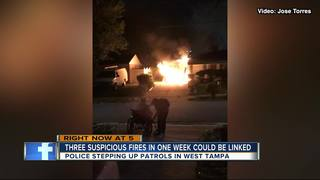 String of arsons has West Tampa neighbors alert