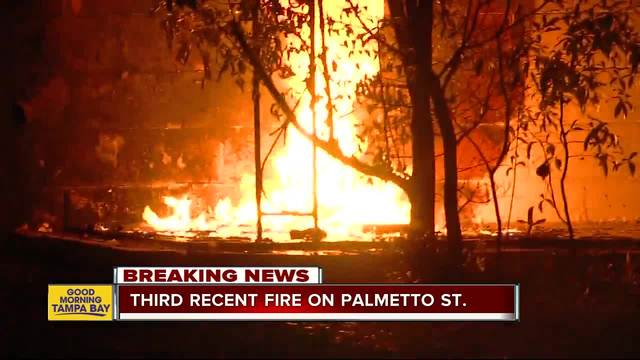 Tampa Fire Arson investigating third suspicious fire in Tampa neighborhood