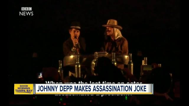 Johnny Depp asks about assassinating President Trump