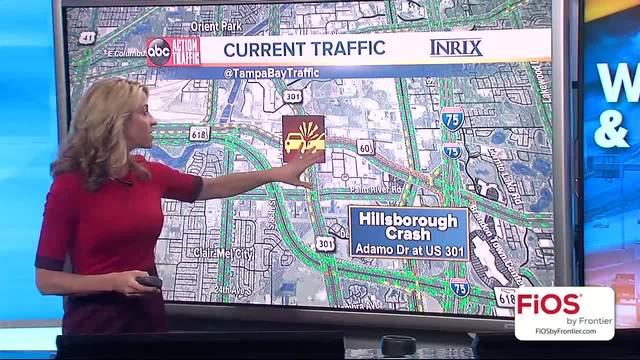 Traffic Alert - Crash blocks all lanes of SR 60 at 301