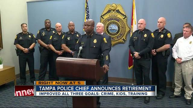 Tampa police chief announces retirement